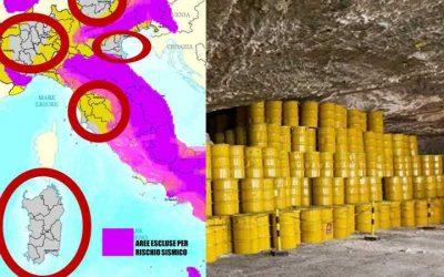 Governo pubblica siti scorie nucleari di notte. Italia in subbuglio